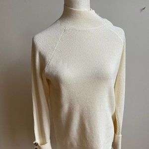 Michael Kors BNWT cream sweater mock neck Medium